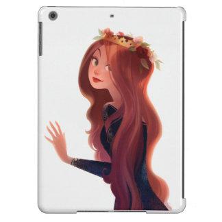 Caja adaptable del aire del iPad rojo del pelo y Funda Para iPad Air