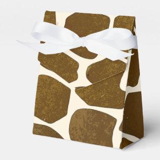Caja adaptable del favor del estampado de girafa