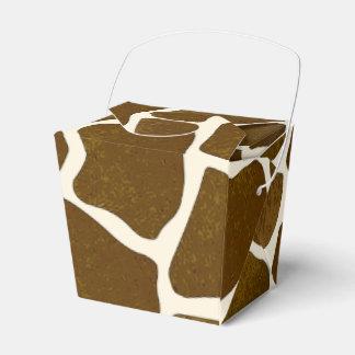 Caja adaptable del favor del estampado de girafa cajas para regalos de fiestas