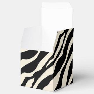 Caja adaptable del favor del estampado de zebra cajas para regalos de fiestas