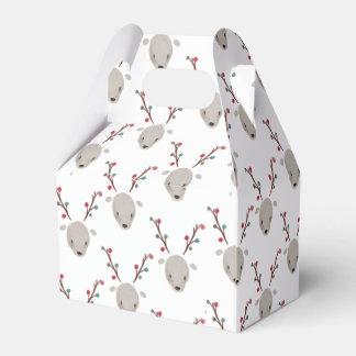 Caja adorable linda del favor del reno de los