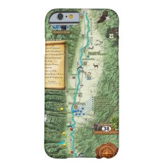 Caja amarga del teléfono del mapa del valle de la funda barely there iPhone 6