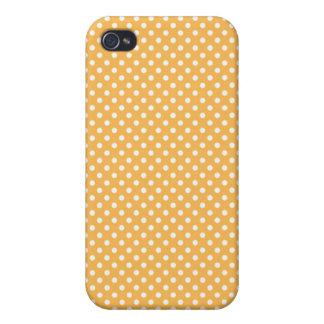 Caja amarilla de Iphone 4 del lunar de la cera de  iPhone 4/4S Carcasa