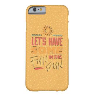 Caja amarilla de la diversión del verano funda de iPhone 6 barely there