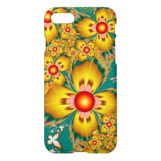Caja amarilla de la flor funda para iPhone 7