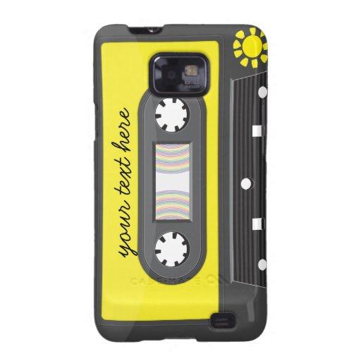 caja amarilla de la galaxia de Samsung del arco ir Galaxy S2 Funda