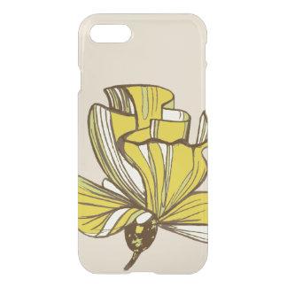 Caja amarilla del iPhone 7 de la flor Funda Para iPhone 7