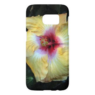 caja amarilla del teléfono de la flor funda samsung galaxy s7