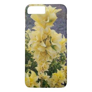 Caja amarilla del teléfono de las flores funda iPhone 7 plus