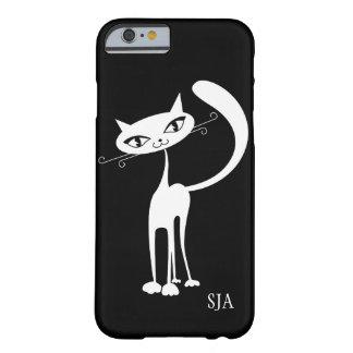 Caja amistosa del teléfono del diseño del gato funda de iPhone 6 barely there