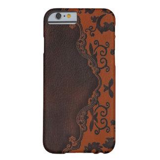 caja anaranjada de cuero occidental del iPhone 6 Funda Para iPhone 6 Barely There