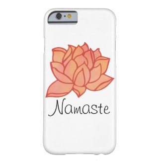 Caja anaranjada de Lotus Namaste del color de agua Funda Barely There iPhone 6