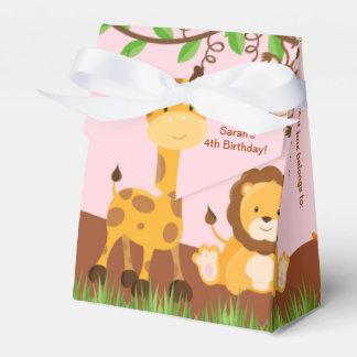Caja animal del favor de la tienda del chica de la cajas para regalos de boda