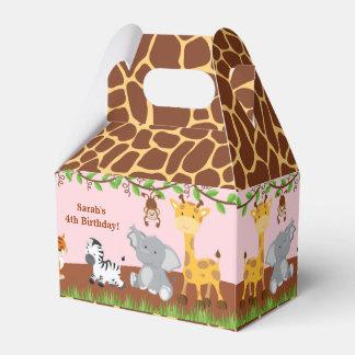 Caja animal del favor del aguilón del chica de la cajas para regalos