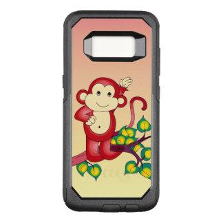 Caja animal dulce de la galaxia S8 de Red Monkey Funda Otterbox Commuter Para Samsung Galaxy S8
