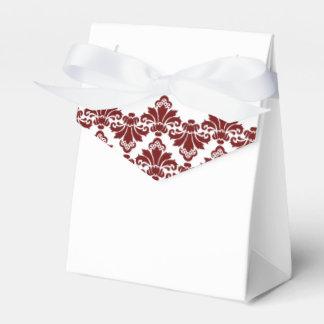Caja antigua Borgoña 2 del favor del boda del