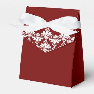 Caja antigua Borgoña del favor del boda del