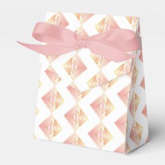 Caja atractiva geométrica del favor del boda del
