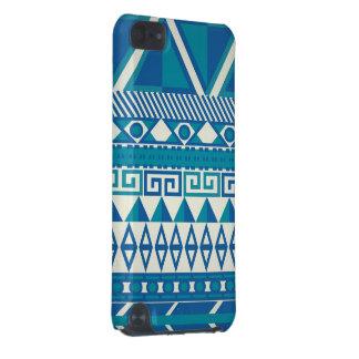 Caja azteca azul y blanca funda para iPod touch 5G