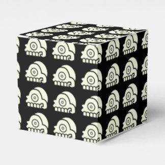 Caja azteca del favor de fiesta del cráneo