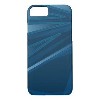 Caja azul abstracta funda iPhone 7