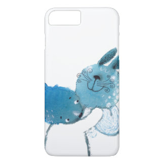 caja azul bonita de los conejos IPHONE Funda iPhone 7 Plus