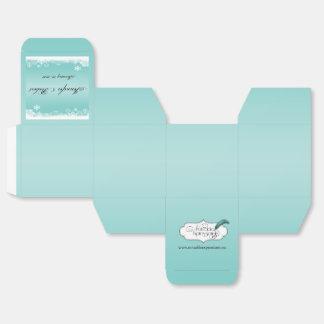 Caja azul clara y blanca del favor del boda del caja para regalos