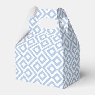 Caja azul clara y blanca geométrica del favor del