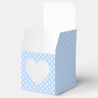 Caja azul claro y blanca del favor del lunar cajas para detalles de boda