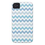 Caja azul de Chevron Iphone 4/4S Case-Mate iPhone 4 Coberturas