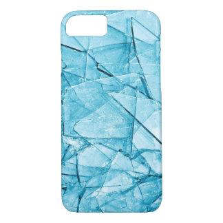 caja azul de cristal quebrada del iphone funda iPhone 7