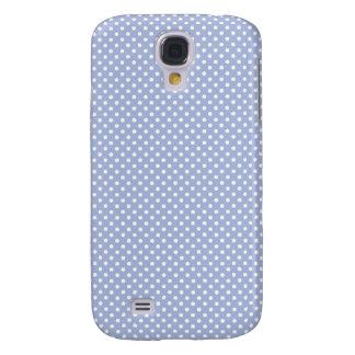 Caja azul de Iphone 3 del lunar de la lavanda pequ