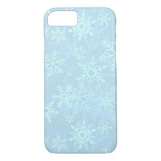 Caja azul de Iphone 6 de los copos de nieve del Funda iPhone 7