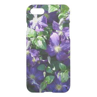 Caja azul de Iphone 7 de la flor del Clematis Funda Para iPhone 7