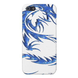Caja azul de iPod del dragón iPhone 5 Carcasas