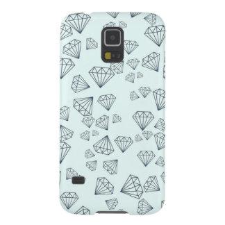 Caja azul de la galaxia S5 de Samsung del diamante Carcasa Galaxy S5