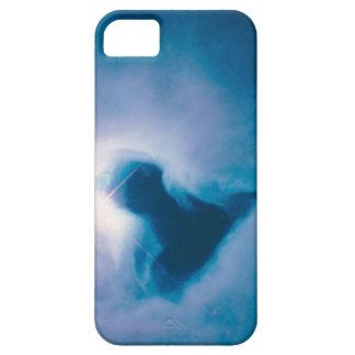 Caja azul de la nebulosa de reflexión iPhone 5 funda