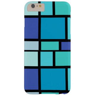 Caja azul de los cuadrados funda barely there iPhone 6 plus