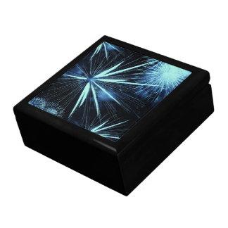 Joyero Caja azul de los fuegos artificiales