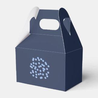 Caja azul del favor del aguilón de los lunares
