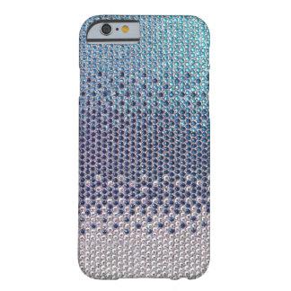 Caja azul del iPhone 6 de Bling del brillo del Funda Para iPhone 6 Barely There