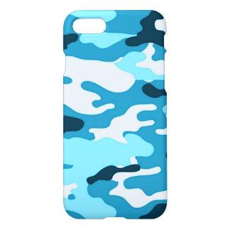 Caja azul del iPhone 7 del camuflaje Funda Para iPhone 7
