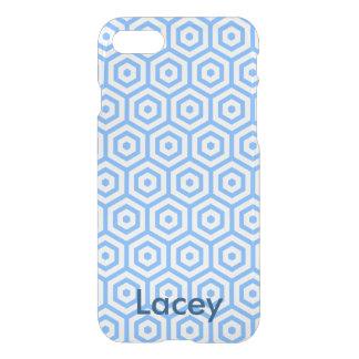 Caja azul del iphone 7 del diseño del polígono funda para iPhone 7