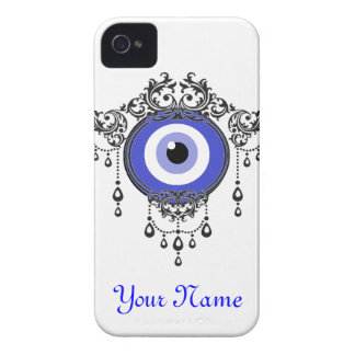caja azul del mal de ojo del iPhone iPhone 4 Carcasas