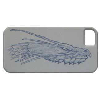 Caja azul del teléfono de la cabeza del dragón funda para iPhone SE/5/5s