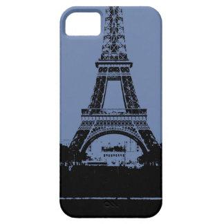 Caja azul del teléfono de la torre Eiffel Funda Para iPhone SE/5/5s