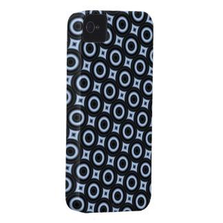 Caja azul del teléfono del círculo iPhone 4 cárcasas
