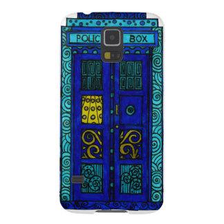 Caja azul - galaxia S5, caso de Samsung de Barely Funda Galaxy S5