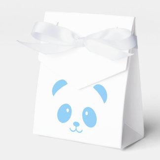 Caja azul linda y mimosa del favor de la panda