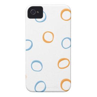 Caja azul pintada de la identificación 4/4S de los iPhone 4 Funda